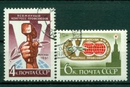 Russie - USSR 1961 - Michel N. 2548/49 - Congrès Mondial Des Syndicats - Obl.