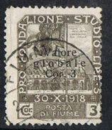 Fiume SG114 1919 Definitive 3cor On 3cor Good/fine Used [12/12678/7D] - 9. WW II Occupation (Italian)