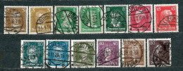 Deutsches Reich 1926, From Set  MiNr 385-397 Used (3) - Complete Set With Very Nice Postmarks - Allemagne