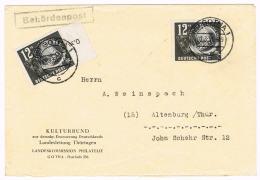 GERMANY/ DDR - Tag Der Briefmarke - Michel # 245 - 2x Auf Brief Portogerecht, Gotha 2.3.1951 Nach Altenburg - 1710