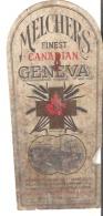 Label  Melchers Finest Canadian Geneva  Montreal, Quebec - Publicidad
