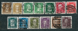 Deutsches Reich 1926, From Set  MiNr 385-397 Used (5) - Complete Set With Very Nice Postmarks - Allemagne