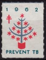 CHRISTMAS Tree - USA 1962 - TBC Tuberculosis Charity Stamp / Cinderella / Label / Vignette