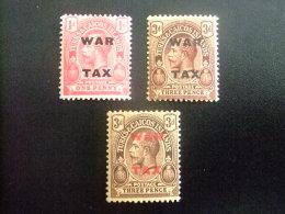 Turks And Caicos Islands 1917 - 19 GEORGE V Yvert N º  74 / 76 * MH