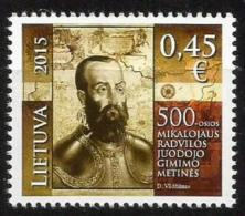 Litauen, 2015, 1184, 500. Geburtstag Von Mikalojus Radvila Juodasis. MNH ** - Lithuania