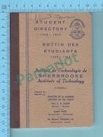 Sherbrooke Quebec Canada - Bottin Des Etudiants Institut De Technologie De Sherbrooke, Etudiant De 1962-1963 5 Scans - Non Classificati
