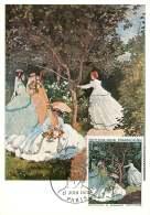 1972  «Femmes Au Jardin» C. Monet  Yv 1703 - Cartes-Maximum