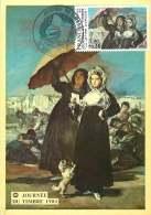 1981  Journée Du Timbre  «La Lettre D'amour»  Goya  Yv 2124   Cachet Marseille - Cartes-Maximum