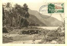 1957  Guadeloupe - Rivière Sens  Yv 1125 - Cartoline Maximum