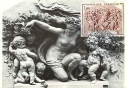 1970  J.-B. Carpeaux  «Le Triomphe De Flore»  Yv 1641 - Cartes-Maximum