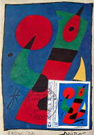 1974    Tableau De Miro  Yv 1811 - Cartes-Maximum