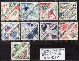 MONACO TAXE N° 39A à 55  Neuf ** Gomme D´Origine  TB