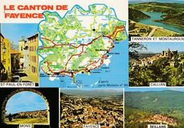 83----LE CANTON DE FAYENCE---multi-vues---voir 2 Scans - Fayence