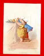 Le Conseiller Des Dames & Des Demoiselles, Ancienne Chromo Grand Format Lith. Formstecher, Les Cinq Sens, Le Toucher - Other