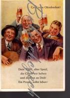 5-873  BRD - GERMANY 1964 Oktoberfest  Wiesn Oktoberfest Beer  Man With A Guitar ? Beer Drinkers Emil Köhn Kunstverlag - Saluti Da.../ Gruss Aus...