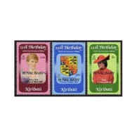 Kiribati 1982 Royal Baby Princess Diana 21st Birthday Famous People Royalties Stamps MNH SC 407-409 Michel 405-407 - Unclassified