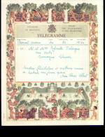 3022   Télégramme Royaume De Belgique Régie Des Télégraphes Clavier 1957   N°235 - Telegraafpapieren