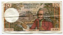Billet De 10 F  VOLTAIRE  1969    X  478 - 10 F 1963-1973 ''Voltaire''