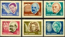 Romania 1967 Famous People Swift Curie Literature Sciences Music Musician Architecture Lipatti Stamps Michel 2607-2612 - Music