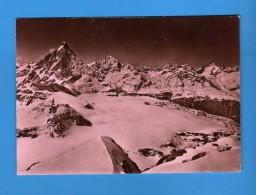 CERVINIA - BREUIL- CERVINO - Ober Gabelhorn - Zinalrothorn.        NON  Viaggiata.  .    Vedi Descrizione - Italia