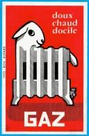 BUVARD GAZ Mouton Radiateur * Graphisme Illustrateur Pub Publicité - Electricité & Gaz