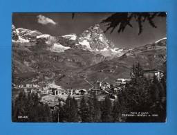 CERVINIA -  BREUIL  Panorama.       Viaggiata.  2 Scan    Vedi Descrizione - Italia