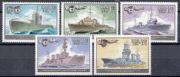 Sowjet Unie - Marine-vaartuigen - MNH - Y 4945-4949 - Transportmiddelen