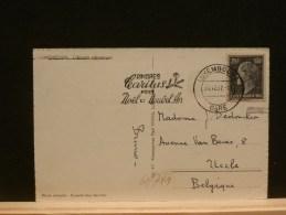 61/751   CP LUX POUR LA BELG. 1957