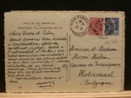 61/763  CP FRANCE POUR LA BELG.  1947