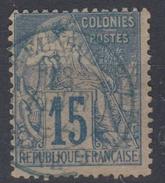 #109# COLONIES GENERALES N° 51 Oblitéré En Bleu Ligne SV (Réunion)