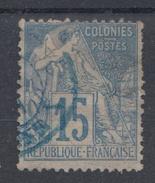 #109# COLONIES GENERALES N° 51 Oblitéré En Bleu Ligne V (Réunion)