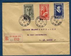 France - Enveloppe En Recommandé Du Havre En 1943 Affranchissement Plaisant   Réf O 54 - Postmark Collection (Covers)