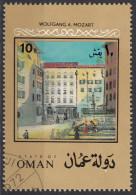 627 Oman 1972 Salisburgo Casa Natale Di Wolfgang Amadeus  Mozart Musica - Oman