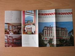 Hotel Montana,Luzern/Lucerne - Dépliants Turistici