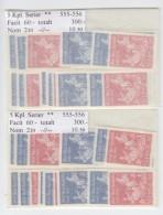 Sweden 1964 - Michel 515-516, 10 Complete Sets MNH **, 10% Of Catalog Value - Neufs