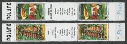POLYNESIE 1988 N° 295A/296A ** Non Pliées Neufs = MNH Superbes Plats Polynésiens Cuisine - French Polynesia