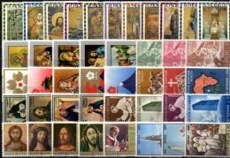Sets Weihnachten 1965 Machu Picchu Vatikan 483/6,528/0,586/9-646/56 ** 6€ Gemälde Christus Christmas Church Art Vaticano - Vatican