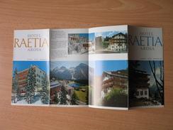 Hotel Raetia,Arosa - Dépliants Turistici