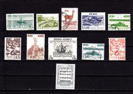 PERU - 1952/7 - O/FINE CANCELLED - FISHING BOATS, LAMA, GUANO CORMORAN - Peru