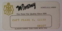 USA - Hawaii - Honolulu - Early Merchant Credit Card - McInerny - Used
