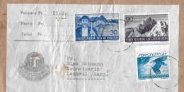 LIECHTENSTEIN → Paketausschnitt Mit Mischfrankatur 1937-1939 ►SBK 132, 136, F20z◄