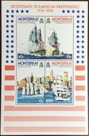 Montserrat 1976 American Independence Ship Minisheet MNH - Montserrat