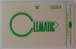 France - Magnetic Passcard - Clematic - Used - Other