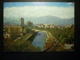 9184 AMERICA CHILE SANTIAGO RIO MAPOCHO POSTCARD POSTAL AÑOS 60/70 CIRCULADA - TENGO MAS POSTALES - Chile