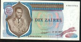 ZAIRE : 10  Zaires - 1977 -  XF - Zaire