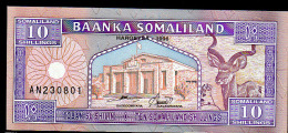 SOMALILAND : 10 Shillings - 1996 - UNC - Banconote
