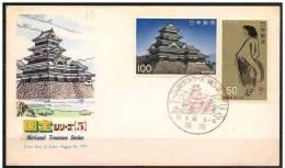 Giappone/Japan/Japon: FDC - Castello, Castle, Château