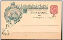 Portogallo/Portugal: Intero, Stationery, Entiers - Castello, Castle, Château