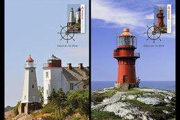 NORWAY 2016 Two Maximum Cards.  Norwegian Lighthouses V