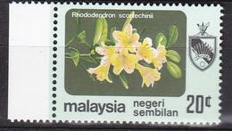 Maleisië ( Negeri Sembilan ) 1979, Postfris MNH, Flowers - Maleisië (1964-...)